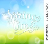 spring time  beautiful... | Shutterstock . vector #1013737690