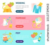 cartoon symbol of wedding... | Shutterstock .eps vector #1013739043