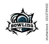 swoosh bowling logo   Shutterstock .eps vector #1013739433