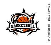 swoosh basketball logo | Shutterstock .eps vector #1013739436