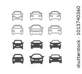 icons of gray cars. vector flat ... | Shutterstock .eps vector #1013740360