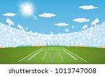 american football arena field... | Shutterstock .eps vector #1013747008