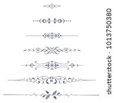 text dividers vector set   Shutterstock .eps vector #1013750380
