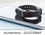 black fitness watch  activity... | Shutterstock . vector #1013750869