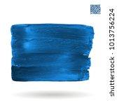 blue brush stroke and texture.... | Shutterstock .eps vector #1013756224