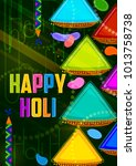 colorful traditional holi...   Shutterstock .eps vector #1013758738