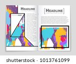 abstract vector layout...   Shutterstock .eps vector #1013761099