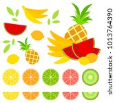 a set of colored isolated... | Shutterstock .eps vector #1013764390