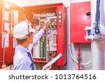 engineer inspection industrial... | Shutterstock . vector #1013764516