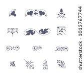 victorian border ornaments...   Shutterstock .eps vector #1013767744