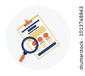 data analyzing flat icon on...   Shutterstock .eps vector #1013768863