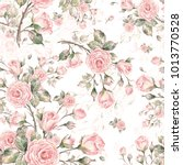 watercolor seamless rose... | Shutterstock . vector #1013770528