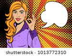 sexy pop art woman with... | Shutterstock .eps vector #1013772310