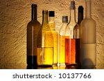 bottles of alcoholic beverages... | Shutterstock . vector #10137766