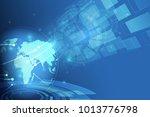 global network connection.... | Shutterstock .eps vector #1013776798
