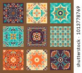 collection of 9 colorful tile... | Shutterstock .eps vector #1013778769