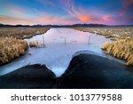 sunset over sierra valley...   Shutterstock . vector #1013779588