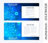 scientific templates square... | Shutterstock .eps vector #1013784328