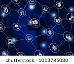 internet concept background... | Shutterstock .eps vector #1013785030