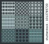 seamless pattern ornament... | Shutterstock .eps vector #1013785720