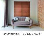 interior design sofa for living ... | Shutterstock . vector #1013787676