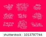 valentines day. romantic... | Shutterstock .eps vector #1013787766