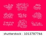 valentines day. romantic... | Shutterstock .eps vector #1013787766