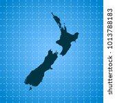 map of new zealand | Shutterstock .eps vector #1013788183