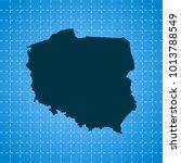 map of poland   Shutterstock .eps vector #1013788549