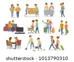 collection of cute couples... | Shutterstock .eps vector #1013790310