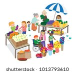 vector cartoon illustration of... | Shutterstock .eps vector #1013793610