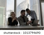 the business people sit at the... | Shutterstock . vector #1013794690