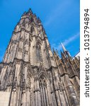 Small photo of Cologne Cathedral, monument of German Catholicism and Gothic architecture in Cologne, Germany.