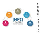 vector infographic template for ... | Shutterstock .eps vector #1013796220