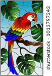 illustration in stained glass... | Shutterstock .eps vector #1013797243