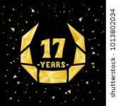 17 years anniversary design... | Shutterstock .eps vector #1013802034