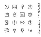 support flat icon set. single... | Shutterstock .eps vector #1013804803
