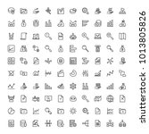 statistics icon set. collection ... | Shutterstock .eps vector #1013805826