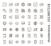 network icon set. collection of ... | Shutterstock .eps vector #1013807218