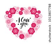 valentine's day card with... | Shutterstock .eps vector #1013807788