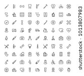 dental icon set. collection of... | Shutterstock .eps vector #1013807983