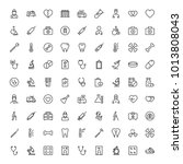 dental icon set. collection of... | Shutterstock .eps vector #1013808043