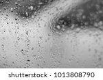 abstract water drop on... | Shutterstock . vector #1013808790