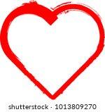 set of hearts . grunge stamps... | Shutterstock .eps vector #1013809270