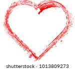 set of hearts . grunge stamps... | Shutterstock .eps vector #1013809273
