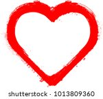 set of hearts . grunge stamps... | Shutterstock .eps vector #1013809360