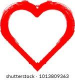 set of hearts . grunge stamps... | Shutterstock .eps vector #1013809363