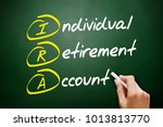 Small photo of IRA - Individual Retirement Account acronym, concept on blackboard