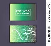 business card for yoga studio...   Shutterstock .eps vector #1013817040