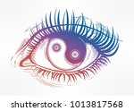 beautiful realistic eye of a... | Shutterstock .eps vector #1013817568